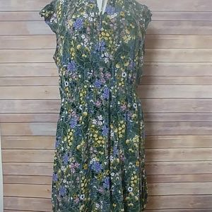 Old Navy Waist Defined Floral Dress XL